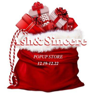 【期間限定】Sincere&Ash(シンシアアンドアッシュ)仙台フォーラスにてポップアップストアオープン2019/12/19~12/22